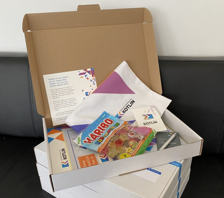 Der Fun ging schon mit der Goodie-Box los, die allen Teilnehmenden zugeschickt wurde.
